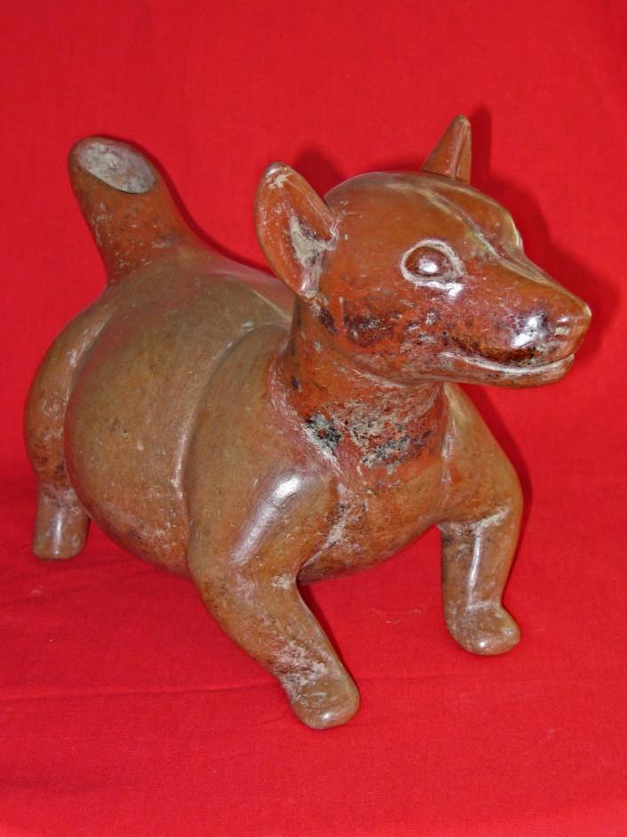 Ceramic Dog, Colima, Mexico, Circa 150 BC to 250 AD